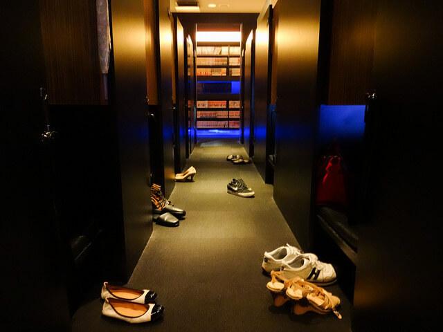Hành lang phía bên ngoài phòng ở qua đêm
